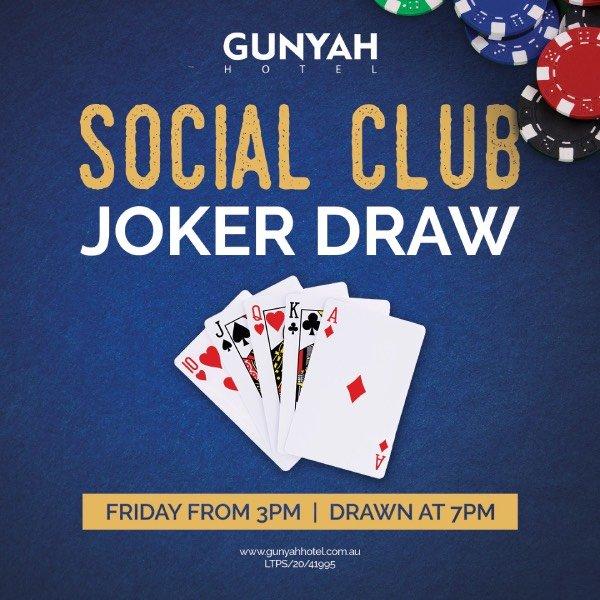 Social club joker draw