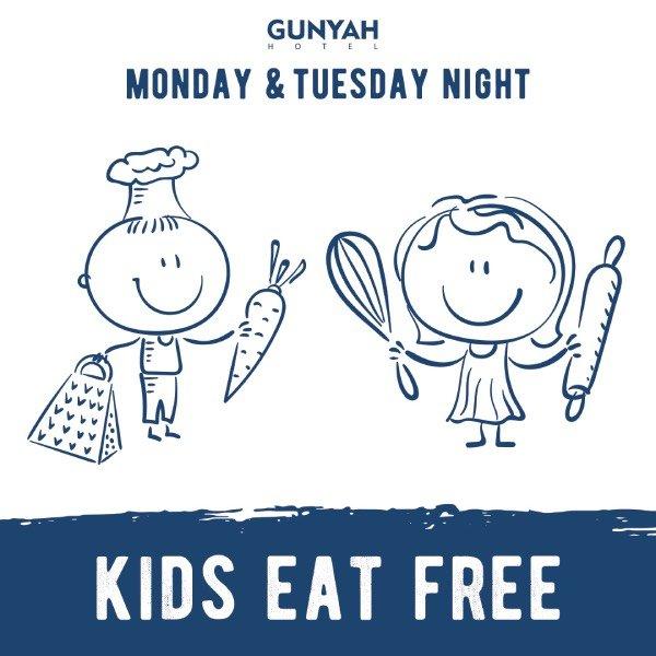Monday & Thursday night kids eat free