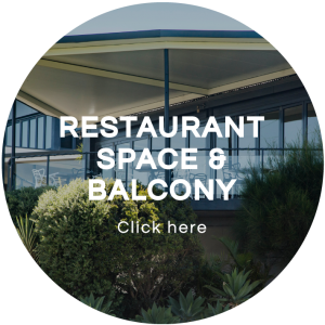 Restaurant space & balcony