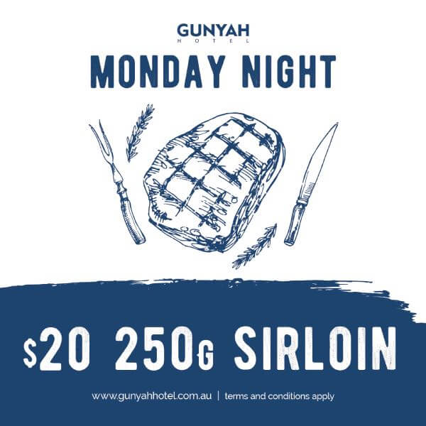 Monday Night Special $20 250g Sirloin