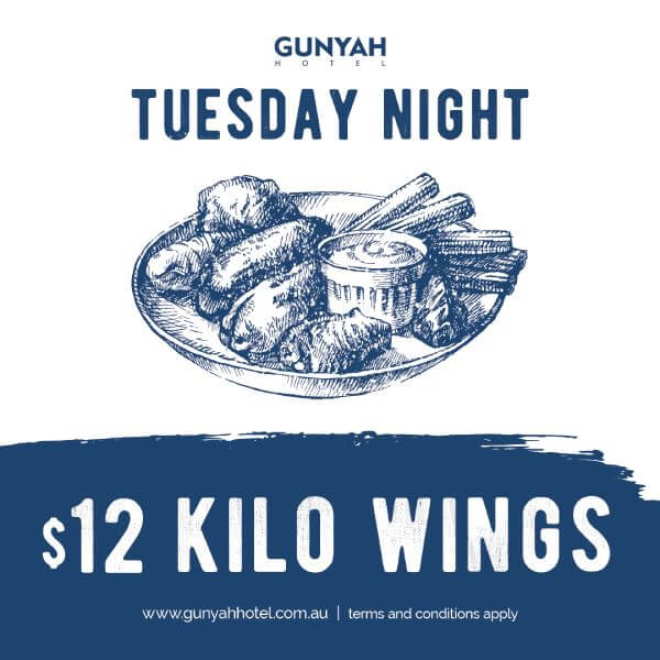 Tuesday Night Special $12 Kilo Wings