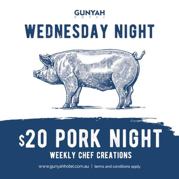 Wednesday Night Special $20 Pork